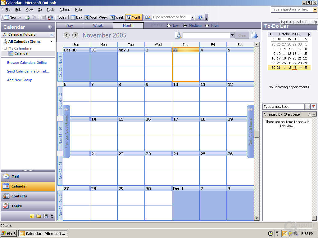 Windows Office Outlook 12 Pre-Beta 1 - Quelle: Winsupersite.com