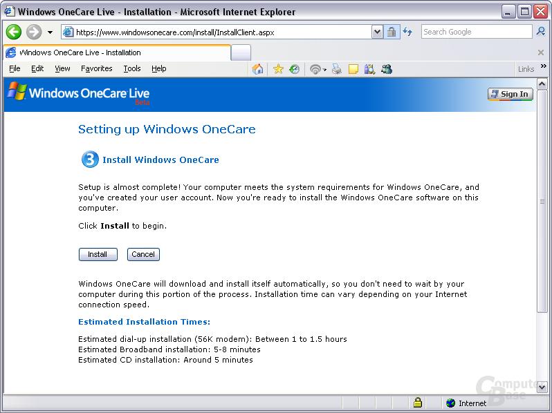 Windows OneCare Live Beta