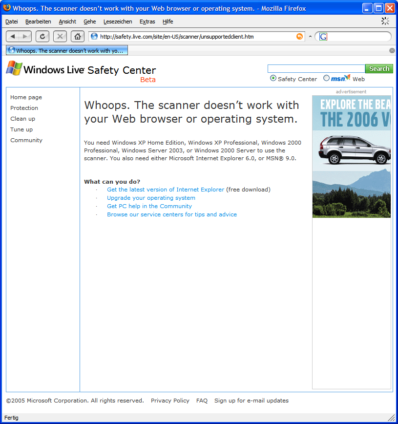 Firefox-Fehler