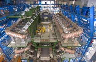 ATLAS-Detektor des LHC in der Bauphase