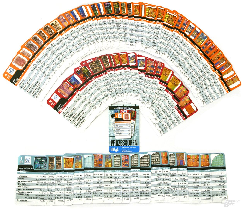 Intel Prozessor-Kartenspiel - zu gewinnen