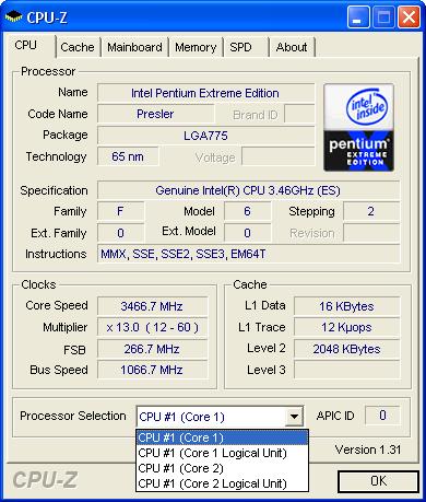 Pentium Extreme Edition 955