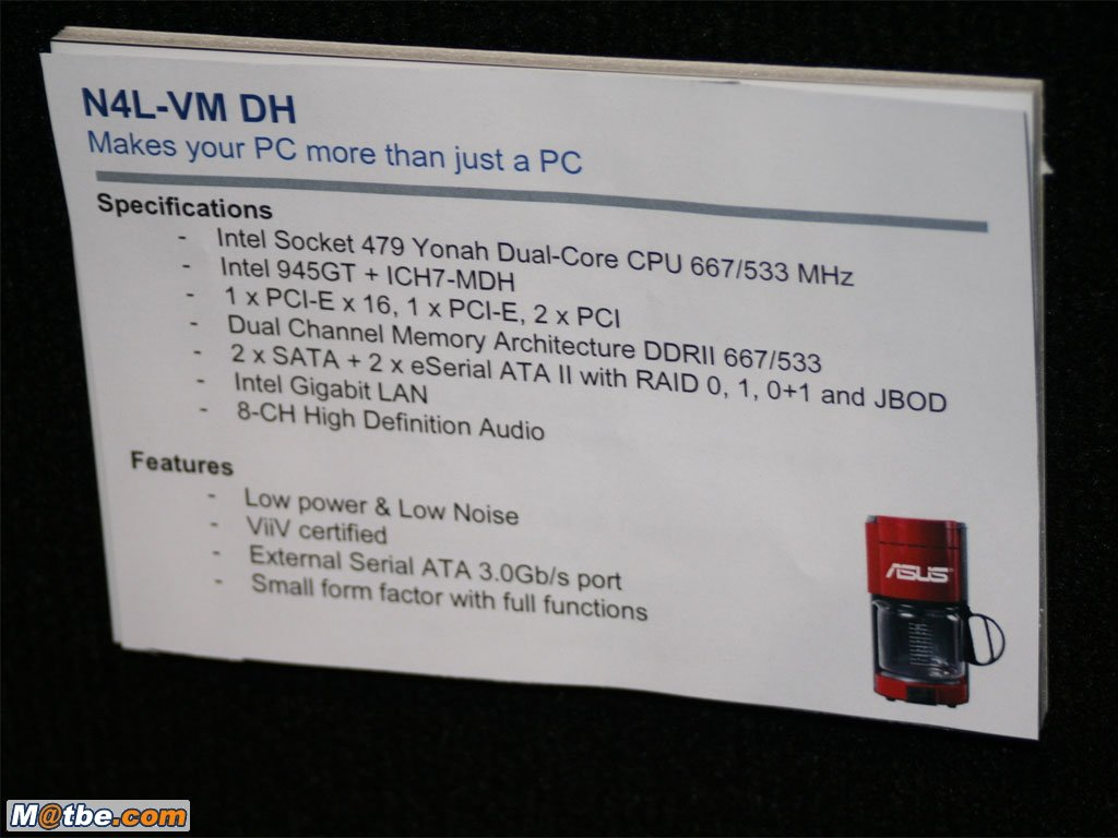 Asus N4L-VM DH Daten