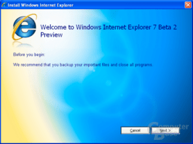 Internet Explorer 7 Beta 2 Preview - Installation