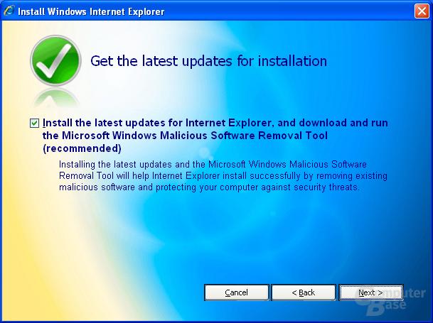 Internet Explorer 7 Beta 2 Preview - Validierung erfolgreich