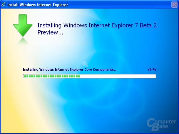 Internet Explorer 7 Beta 2 Preview - Installationsprozess