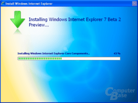 Internet Explorer 7 Beta 2 Preview - Installationsprozess