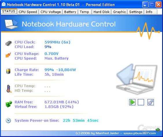 Notebook Hardware Control 1.10 Beta