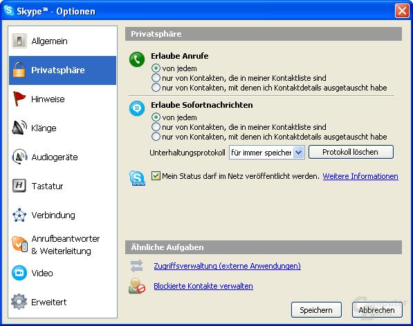SkypeWeb wird seit Skype 2.0.0.79 unterstützt
