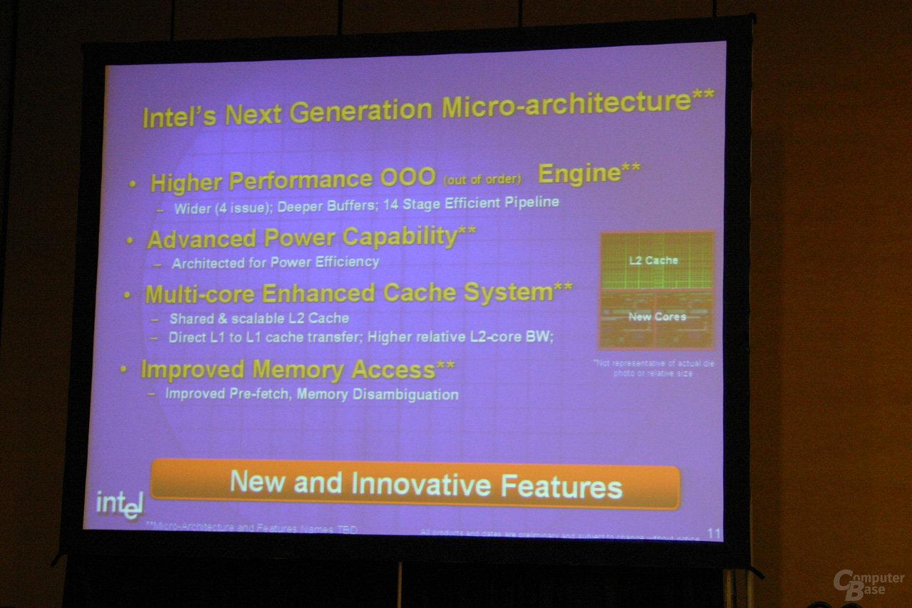 Intels neue Prozessorarchitektur