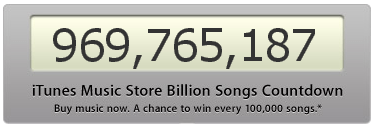 Apple iTunes Music Store Countdown