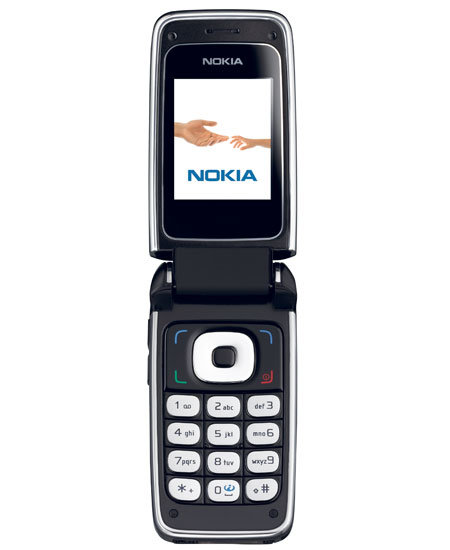 Nokia 6136 front, offen