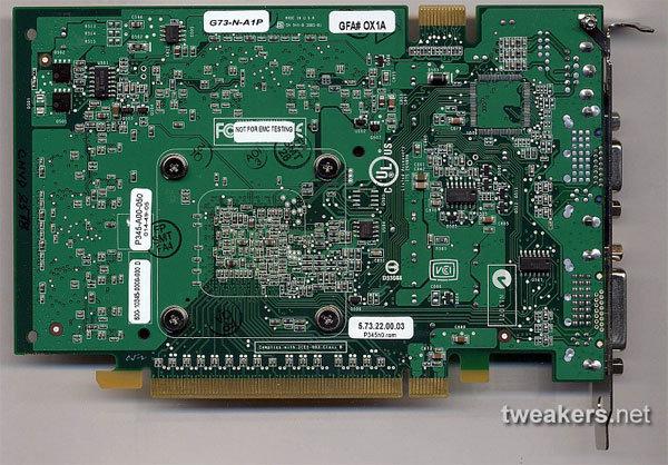 GeForce 7600 GS Rückseite