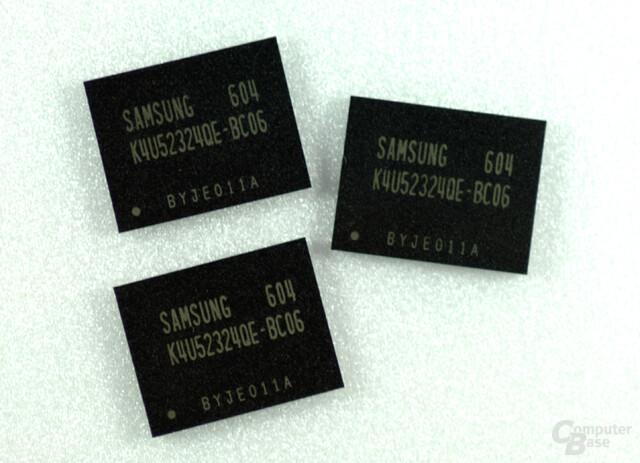 Samsung GDDR4-Prototyp mit 3,2 GHz