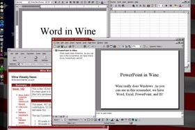 Wine - MS-Word und MS-PowerPoint