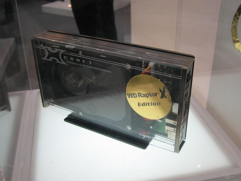 Festplattengehäuse mit WD Raptor 150 GB