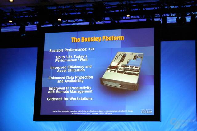 Neue Features der Bensley-Plattform, für Workstation wird es Glidewell geben