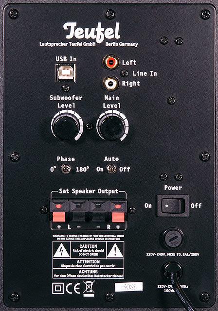 Rückseite des Subwoofers des Concept C 2.1 USB