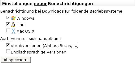 Einstellungen für neue Download-Benachrichtigungen