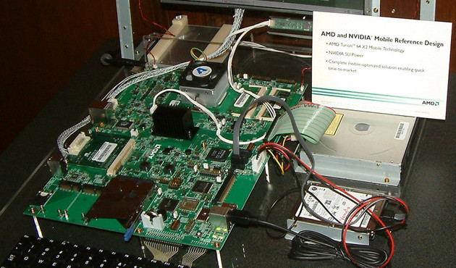 AMD Turion 64 X2-Referenzplattform, Quelle: Golem.de