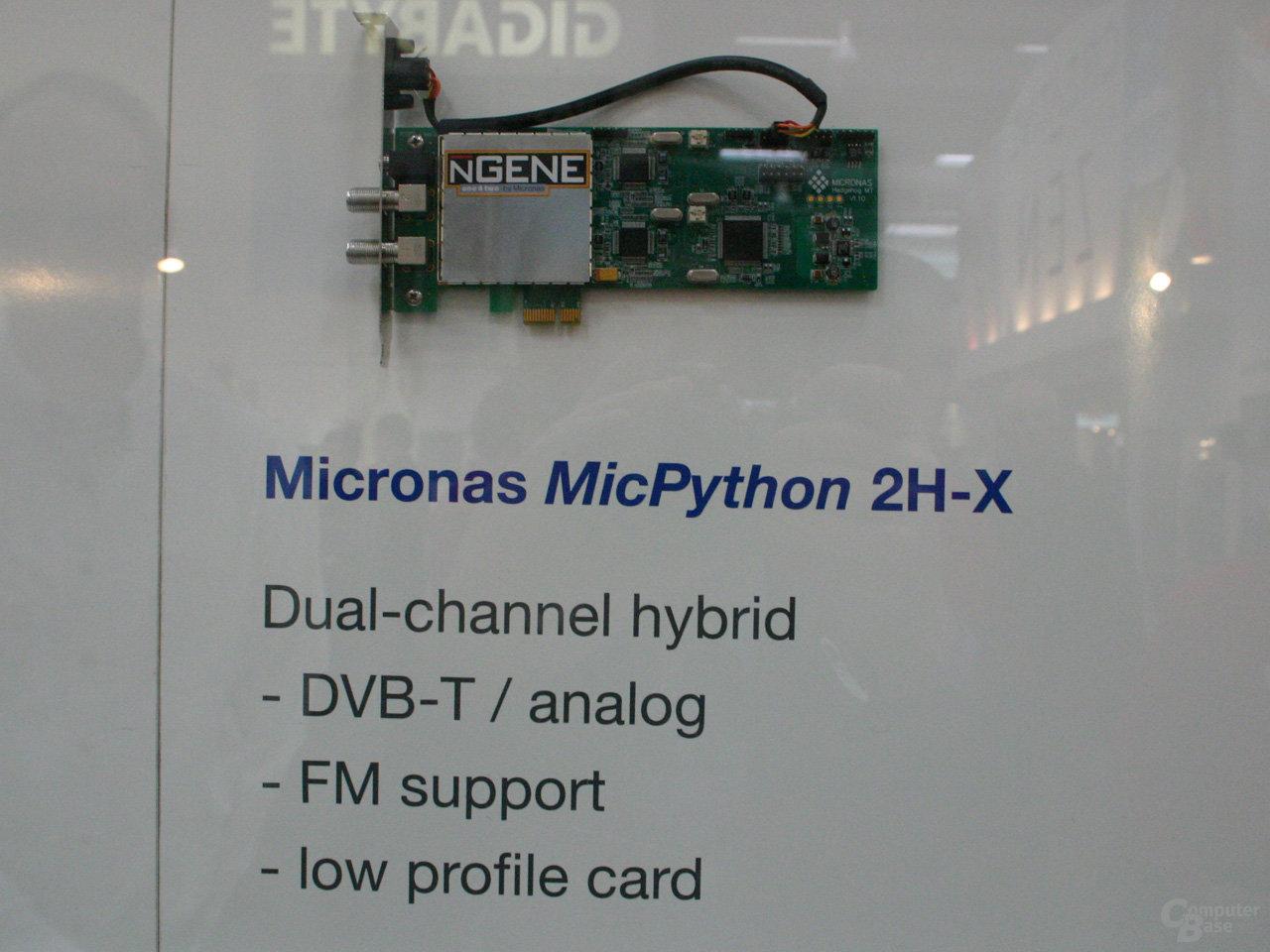 Micronas MicPython 2H-X Referenzdesign für DVB-T
