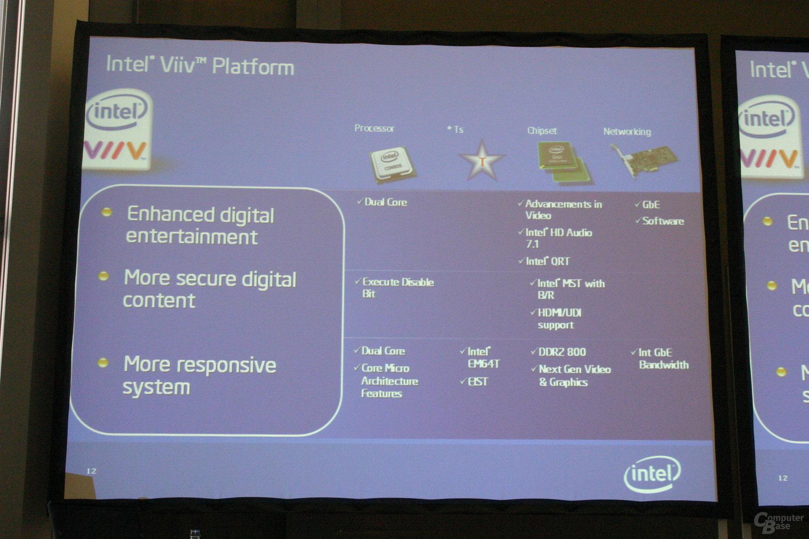 Intel Averill: Broadwater-Chipsatz und Conroe-Prozessor
