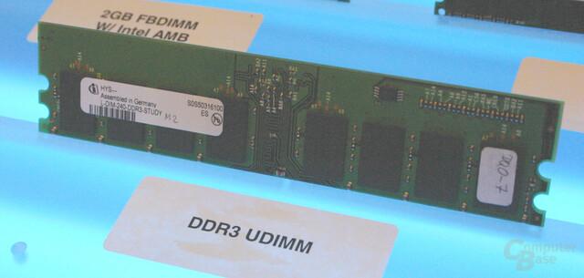 DDR3-Prototyp von Infineon auf dem IDF Fall 2005