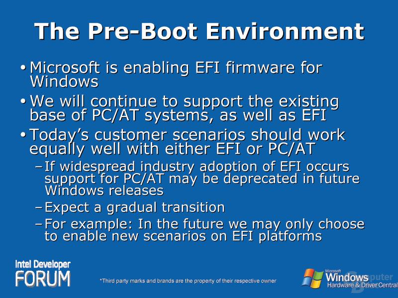 The Pre-Boot Environment