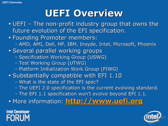 UEFI Overview