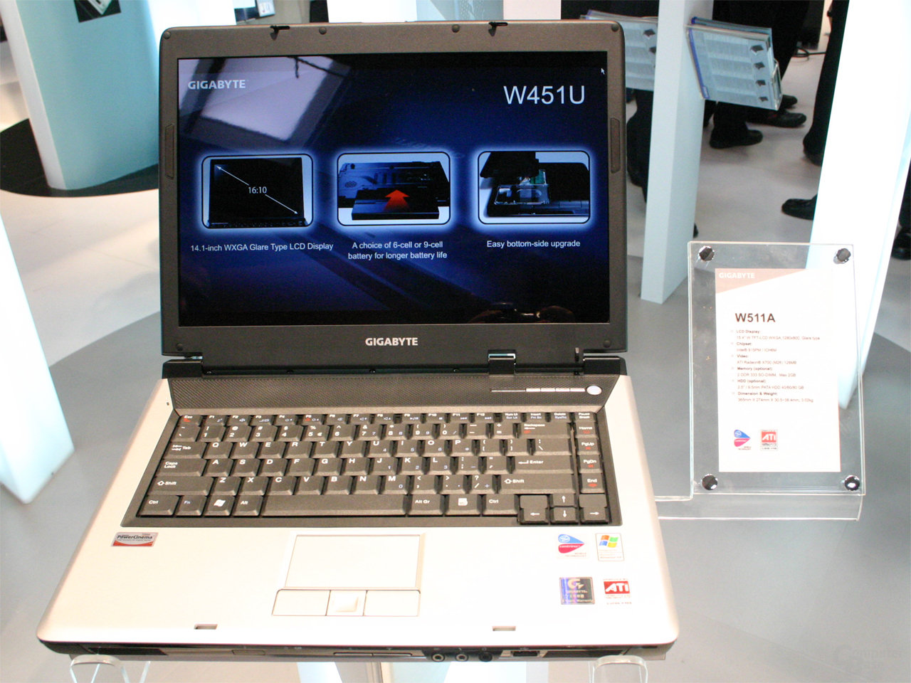 Gigabyte W511A Notebook