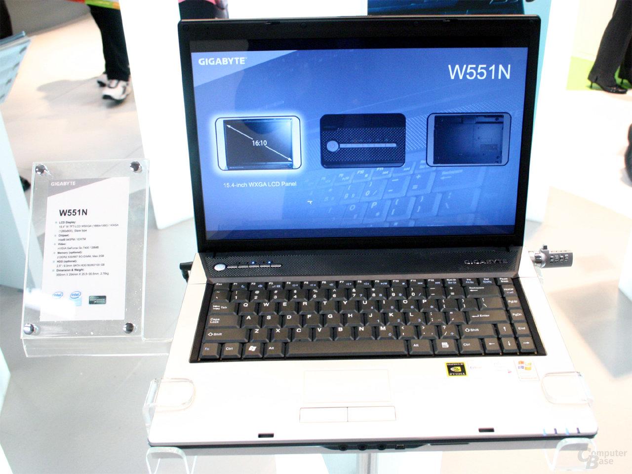 Gigabyte W551N Notebook