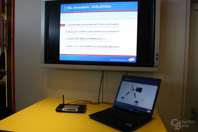 Video über VDSL mit FRITZ! (Prototyp)