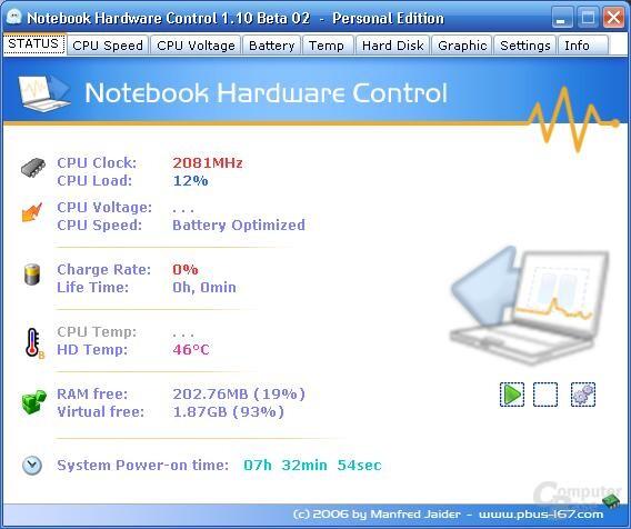 Notebook Hardware Control 1.10 Beta 2