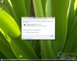 Windows Vista Kompatibilitätsassitent Build 5342