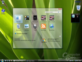 Windows Vista Sidebar Build 5342