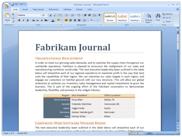 Microsoft Word 2007 Beta Build 3820
