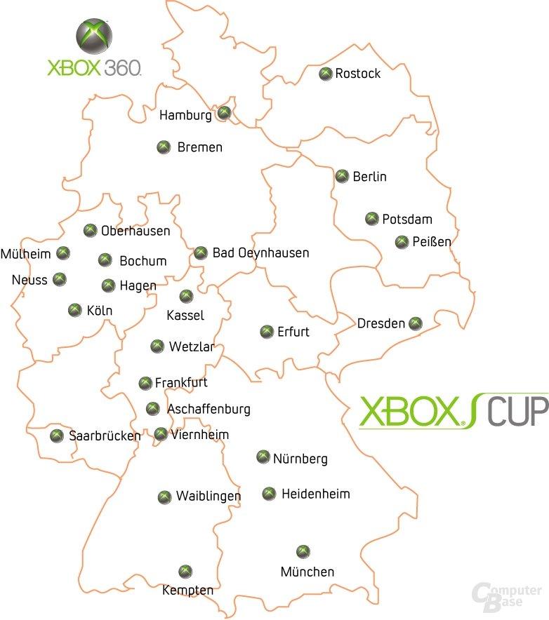 Xbox Cup - Deutschland Karte