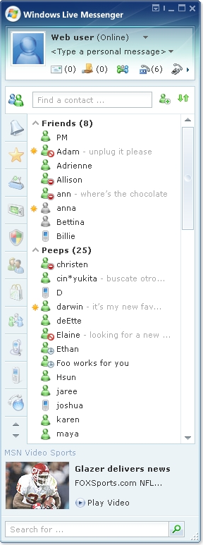 Windows Live Messenger 8 - unbekannte Version, Quelle: LiveSide.net