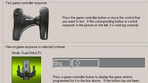 Microsoft Sidewinder Dual Strike im Test: Ein Controller speziell für Action-Spiele