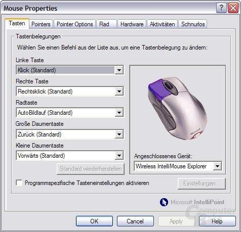 Software: Tasten
