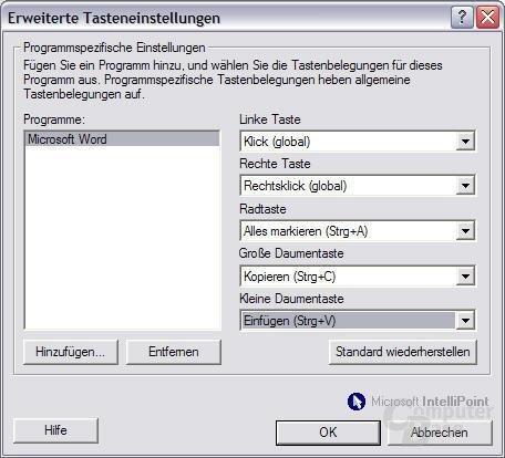 Software: Erw. Tasten