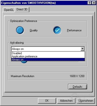 Radeon 8500 Smoothvision D3D
