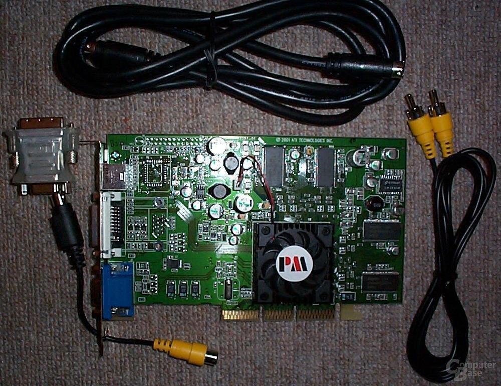 Radeon 7500 mit Kabeln