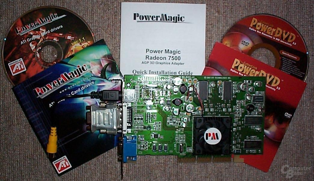 Radeon 7500 mit  CDs