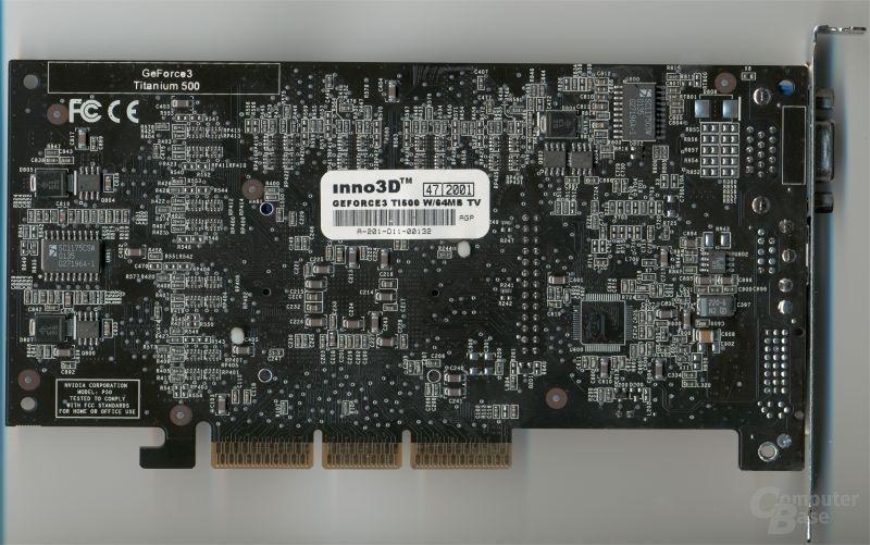 Inno3D GeForce3 Ti500 Back