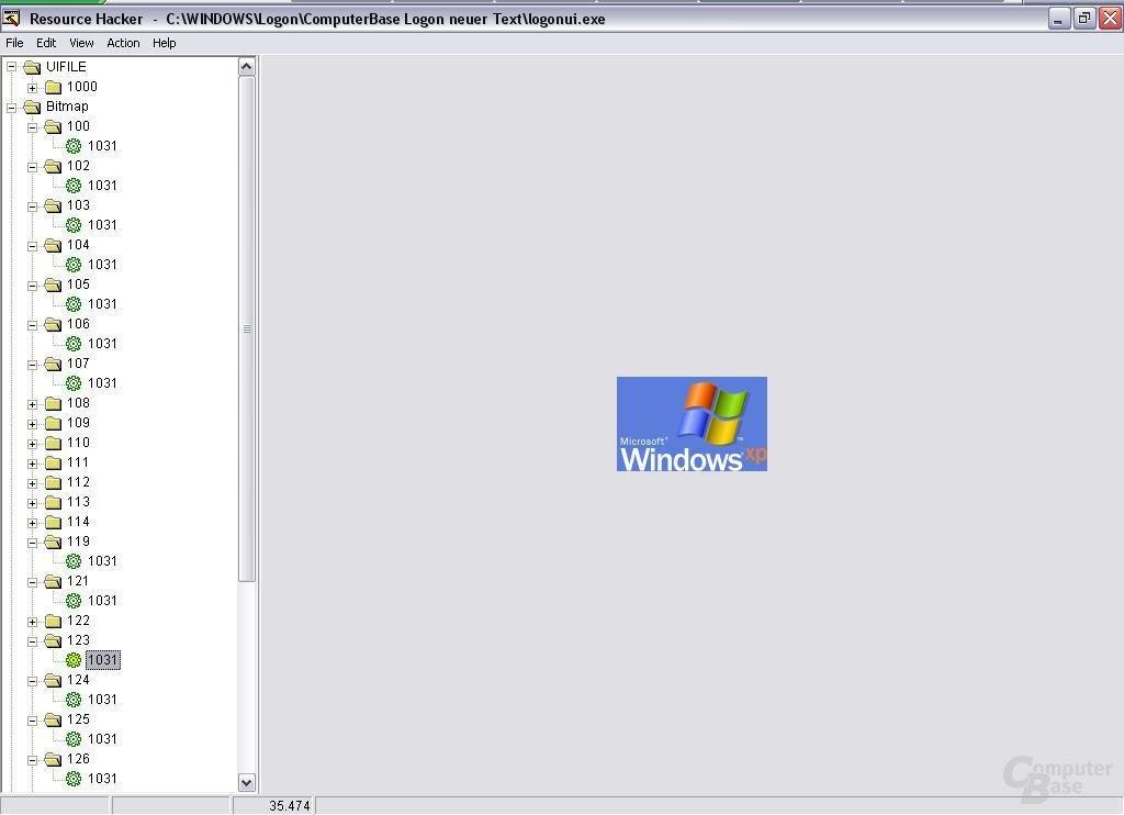 Windows XP Logo im Logonscreen