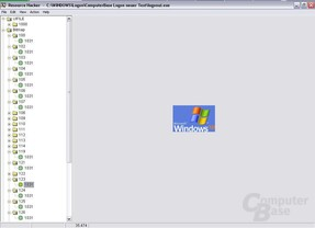 Windows XP Logo im Logonscreen