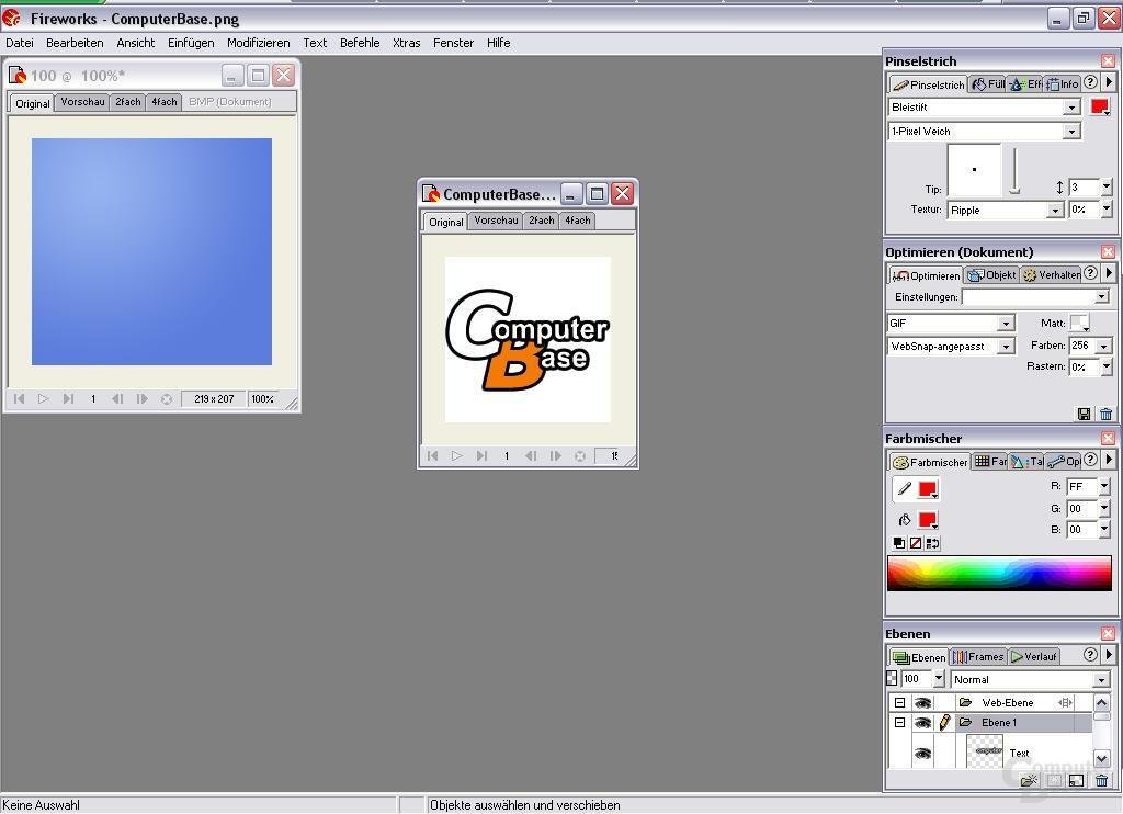 Gespeicherte Grafik mit Grafikprogramm öffnen
