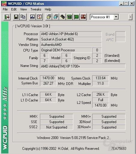 WCPUID Screenshot
