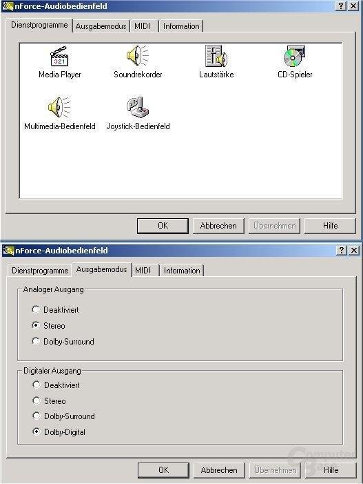 Audio Controllpanel